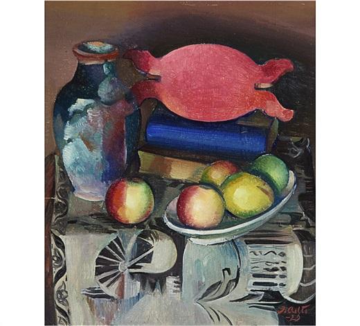 still life with fruit by ilmari aalto