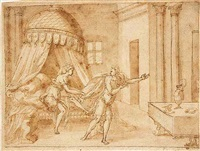 joseph and potiphar's wife by bernard (le petit bernard) salomon
