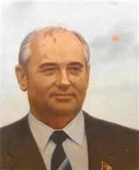 portrait of mikhail sergeevich gorbachev, #2 by semyon faibisovich