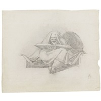 a sibyl (+ 2 engravings of the same subject by charles grignon; 3 works) by henry fuseli