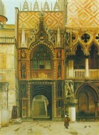 la porta della carta nella palazzo ducale venezia by john wharlton bunney