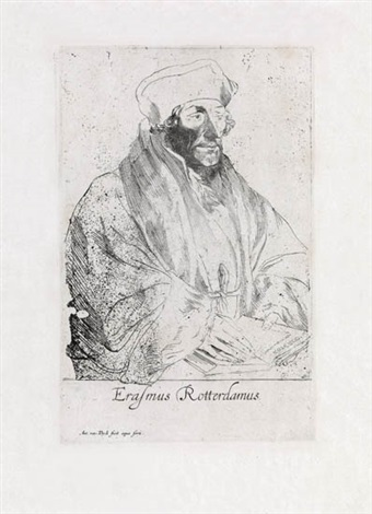 erasmus of rotterdam by sir anthony van dyck