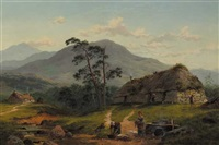 the path to the burn, arden-a-dene, near dunoon by james brenan