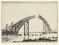 wrecking bridge (+ 5 others; 6 works) by otto august kuhler