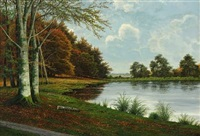 fall scenery by vilhelm leisner