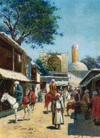 samarkand street market by richard karlovich zommer