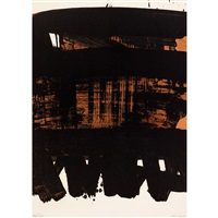 lithographie n ° 22 by pierre soulages