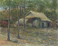 paisaje con choza by joaquín clausell