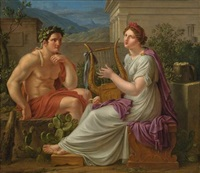 herkules und die muse by eberhard wächter