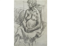 figure seated by duncan grant