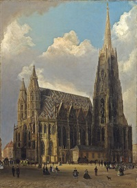 der stephansdom by ferdinand lepie