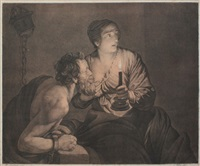 roman charity: cimon and pero (after a painting by honthorst) by ferdinand piloty the elder