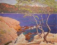 paysage de bord de mer, méditerranée by henry bouvet