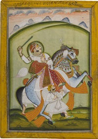 an equestrian portrait of shri damodarji ii by anonymous-indian (19)