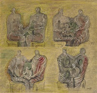family groups by henry moore