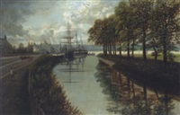 canal scene by edward priestley