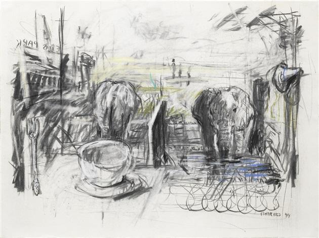 elephant study by william kentridge