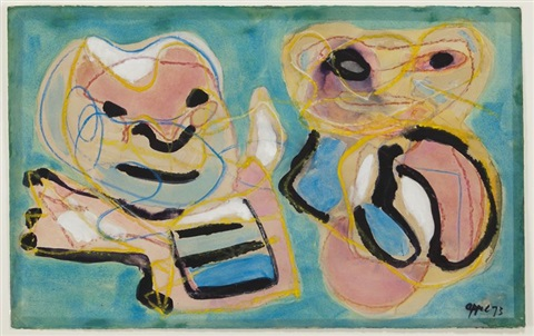 two figures by karel appel