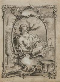 der heilige johannes evangelist (design for print) by johann wolfgang baumgartner
