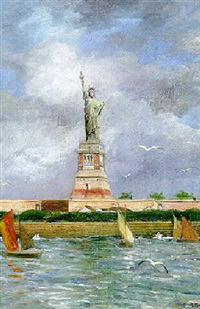 the statue of liberty by franz antoine