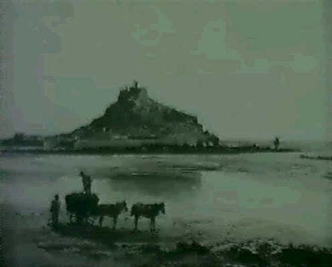 seaweed gatherers before st michaels mount by fritz b althaus
