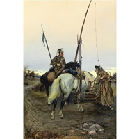 russian lancers by i. mikhailov
