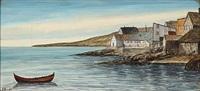 two coastal sceneries from the faroe islands (2 works) by joen waagstein
