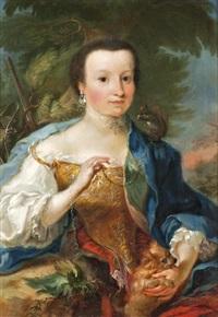 arisztokrata hölgy mókussal by cornelis troost
