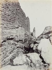 karak (palestine), ruines du château by henri sauvaire
