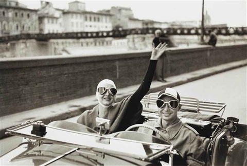 american tourists in mg on arno florence italy by ruth orkin