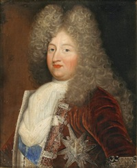 portrait du grand dauphin (?) en buste portant l'ordre du saint-esprit by pierre gobert
