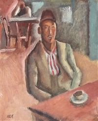 turkish man at the coffee shop by iosif iser
