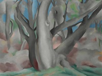 trees at glorieta, new mexico by georgia o'keeffe