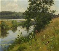 summer landscape by fredrik ahlstedt