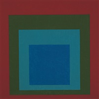 study for homage to the square: mellowed by josef albers