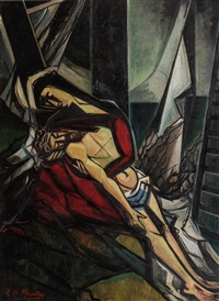 pieta (stations of the cross xiii) by roy de maistre