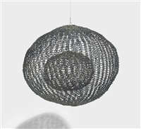 untitled (s.618, hanging sphere within a sphere) by ruth asawa