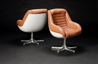 pair of lounge chairs by artflex