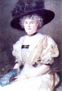 portrait of isabel gilberta kirkwood by peter alexander hay