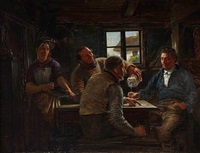 inn interior with sailors by hans christian koefoed
