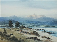 pigeon bay, banks peninsula by thomas peerless