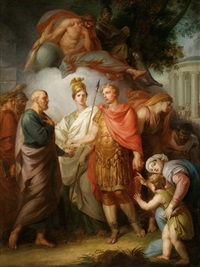 apotheose kaiser josephs ii. als beschützer des wissens und der weisheit by friedrich heinrich füger