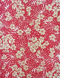 big print #2 (maui fern - cotton mainsail cloth fall design dorothy draper, courtesy schumacher & co), 2007 by annette kelm