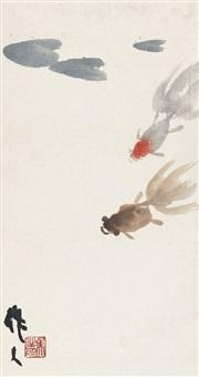 吴作人(1908-1997) 金鱼 by wu zuoren