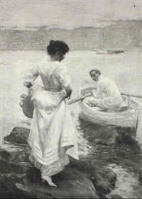 an afternoon on the estuary by charles daniel ward