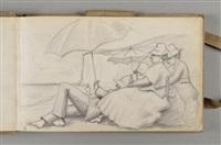 carnet d'étretat et du grand-lemps (sketchbook w/c.44 works) by pierre bonnard