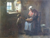 peeling potatoes by henry john dobson