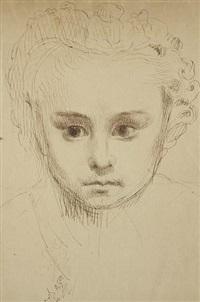 portrait d'enfant by alphonse legros