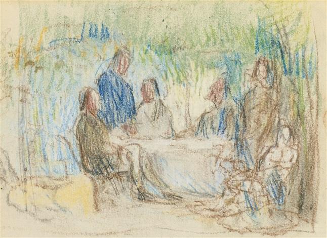 autour de la table by paul cézanne