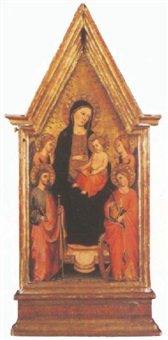 the madonna and child with saints catherine and james by master of san jacopo a mucciana